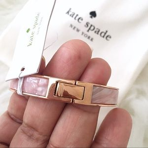 kate spade Jewelry - ♠️ Kate Spade Hole Spade Blush Pink Multi Bangle